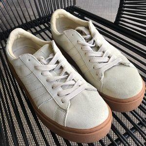 Zara Leather Beige Platform Sneakers 6.5 / 37